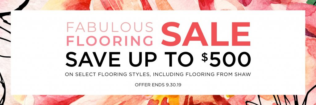 Fabulous flooring sale | Pucher's Decorating Centers