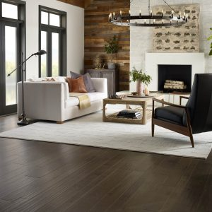 Hardwood flooring of living room | Pucher's Decorating Centers