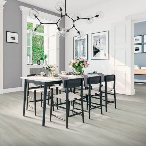 Laminate flooring of dining room | Pucher's Decorating Centers