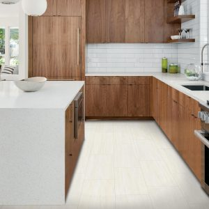 Laminate flooring at kitchen | Pucher's Decorating Centers