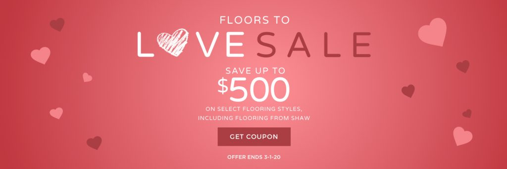 Floors to love sale banner | Pucher's Decorating Centers