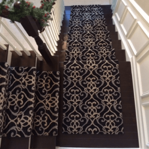 Puchers design stairway landing | Pucher's Decorating Centers