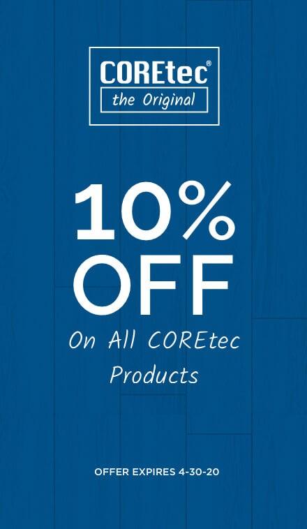 Coretec the original banner | Pucher's Decorating Centers