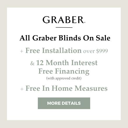 graber blinds in room